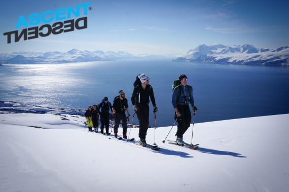 Last groups ski weekend at the Ascent Descent ski lodge. Boat tour to Trolltinden last friday.