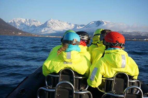 Getting back to Nord Lenangen after a tour to Vannøya with the group on our first day together. Photo: Jimmy Halvardsson