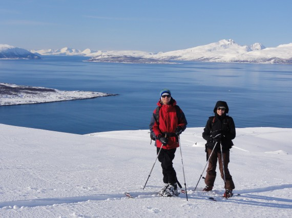 Katy and Andy from Australia on their first ski tour. Photo: Jimmy Halvardsson