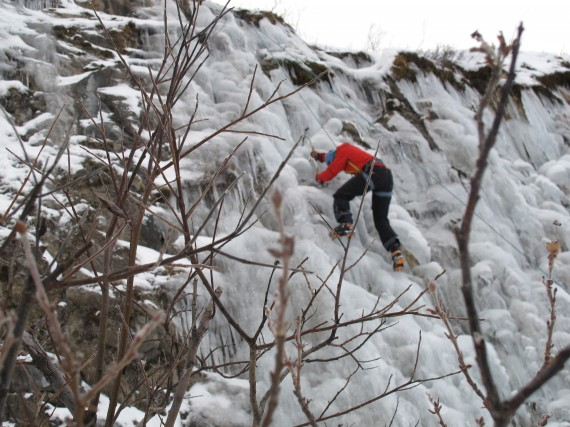 Ice climbing with Ascent Descent