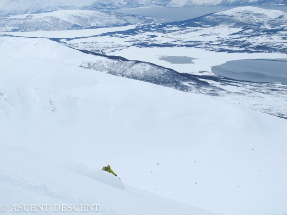 Stetinden today gave us some great skiing. Photo: Jimmy Halvardsson