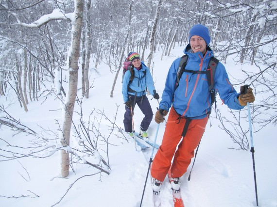 Skiing in the forest near Tromsø today
