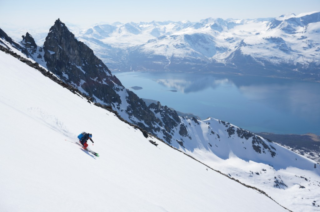 "Experience the Lyngen alps with Ascent Descent ""The Lyngen Mountain Guides""! Photo: Jimmy Halvardsson"